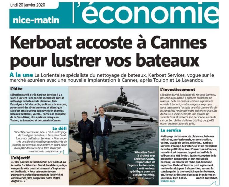 Kerboat Services accoste à Cannes !