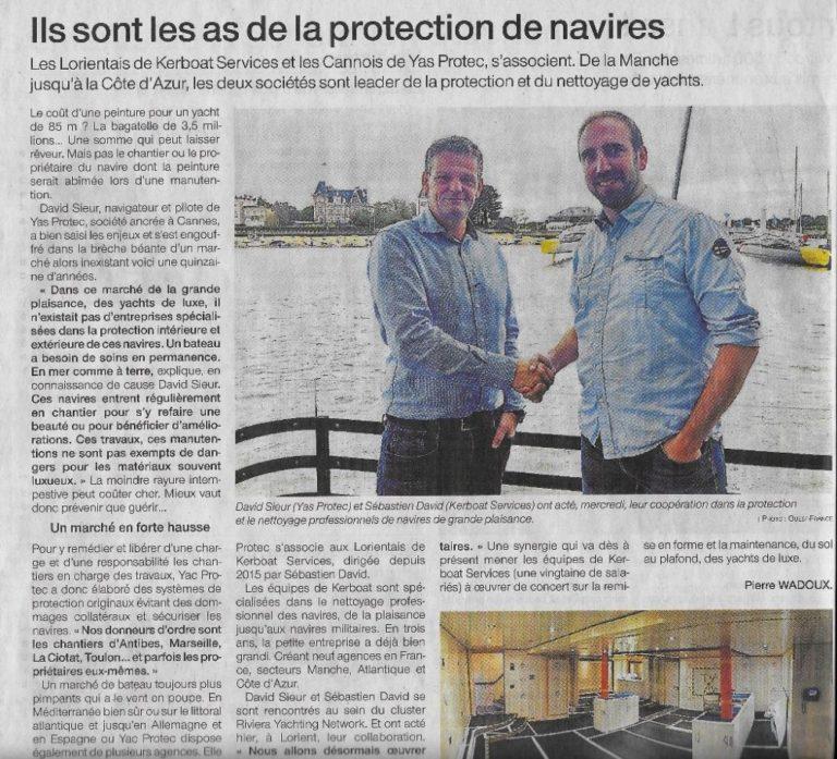 La presse lorientaise parle de Kerboat Services !