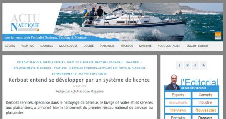 Kerboat Services se développe par un système de licence