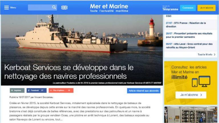 Kerboat Services se développe dans le nettoyage des navires professionnels