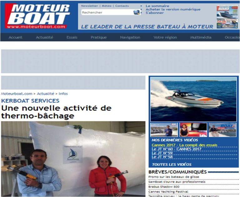Kerboat Services sur les sites Moteur Boat et Voiles et Voiliers