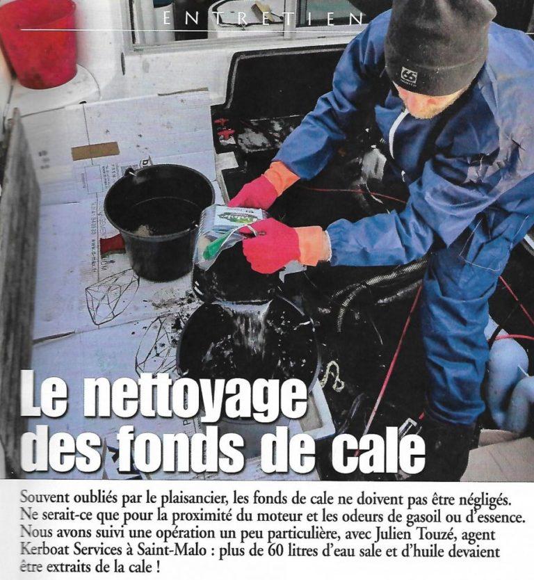 Nettoyage de fonds de cale avec Kerboat Services