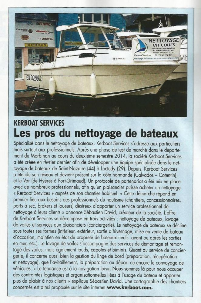 Les pros du nettoyage de bateau
