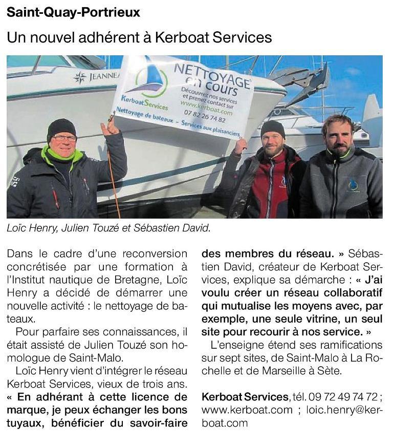 Kerboat Côte d'Armor dans Ouest-France et Le Télégramme