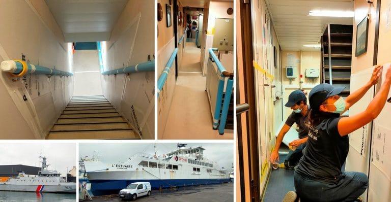 Kerboat Services pose des protections à Concarneau !