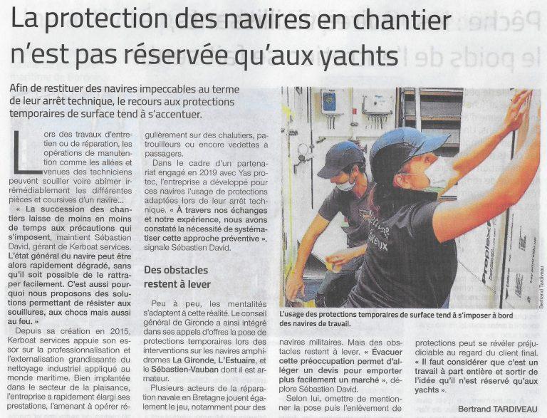 La protection des navires en chantier n'est pas réservée qu'aux Yachts !