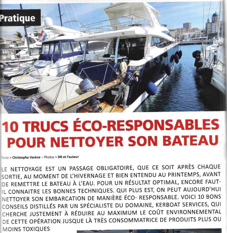 10 trucs éco-responsables pour nettoyer son bateau