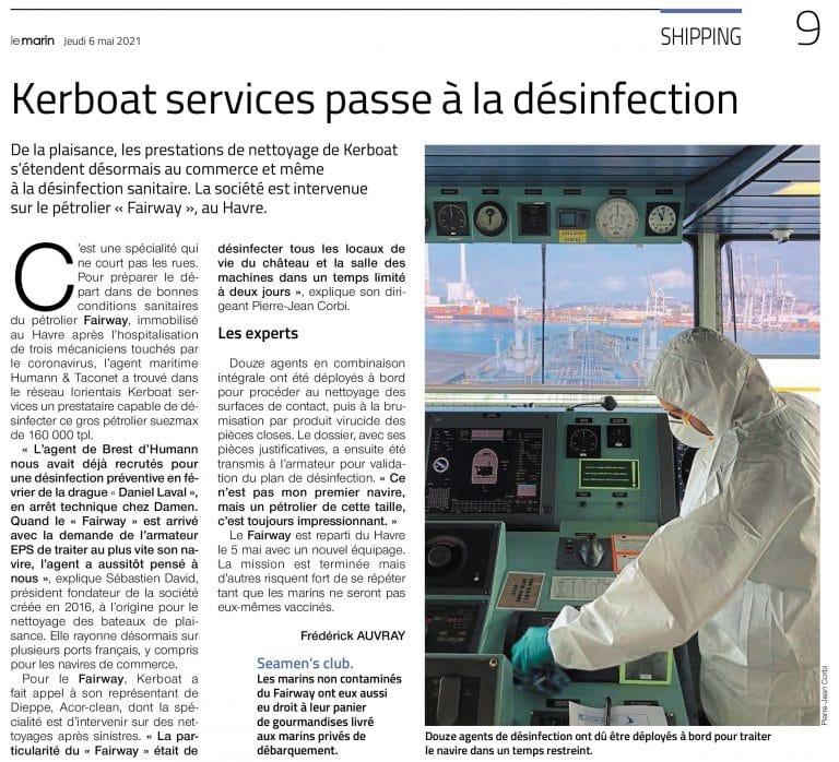 Kerboat Services désinfecte un supertanker de 280 mètres